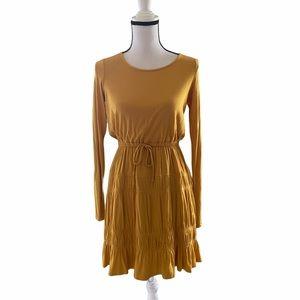 Anthro Dolan Left Coast Ingrid Tiered Yellow Dress